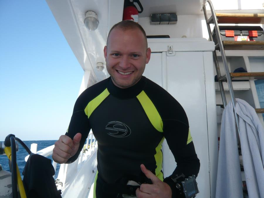 Ready and excited to dive the HMS Thistlegorm on Dec 17, 2013!