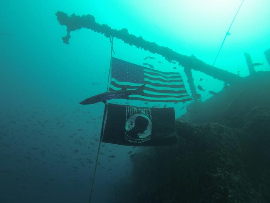 USS Oriskany Flags