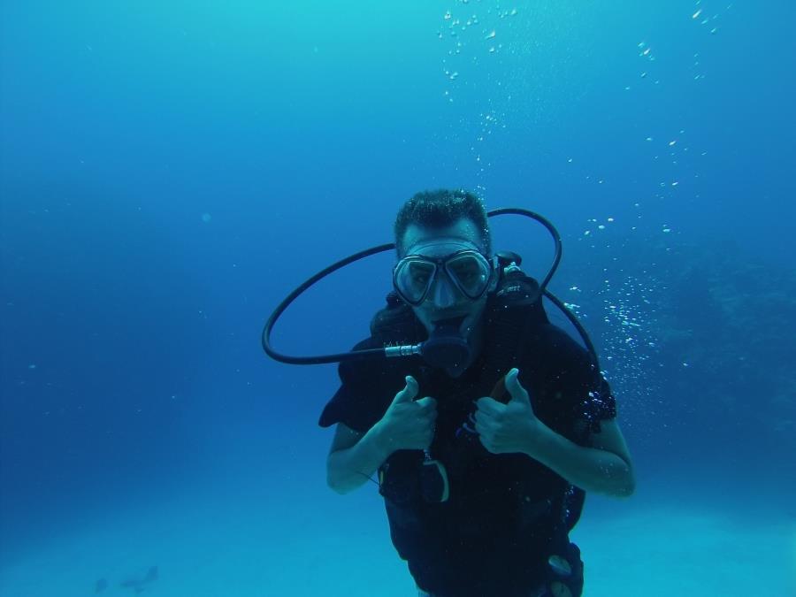 Chris having fun diving the Kittiwake