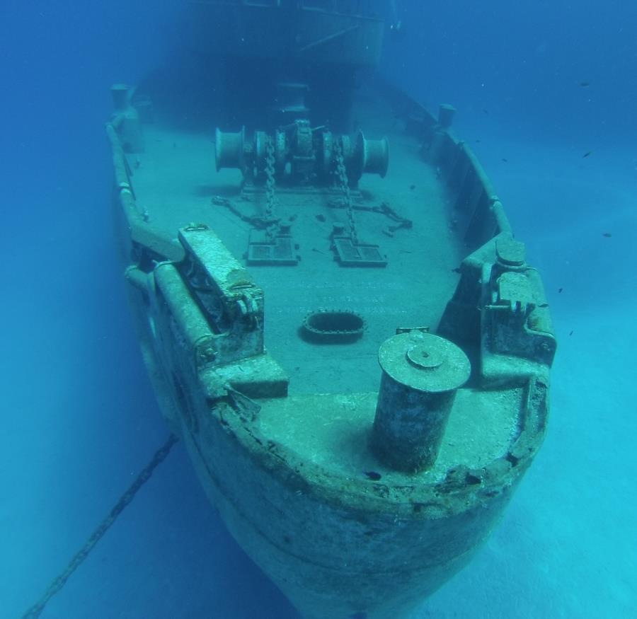 Deck of USS Kittiwake in Grand Cayman