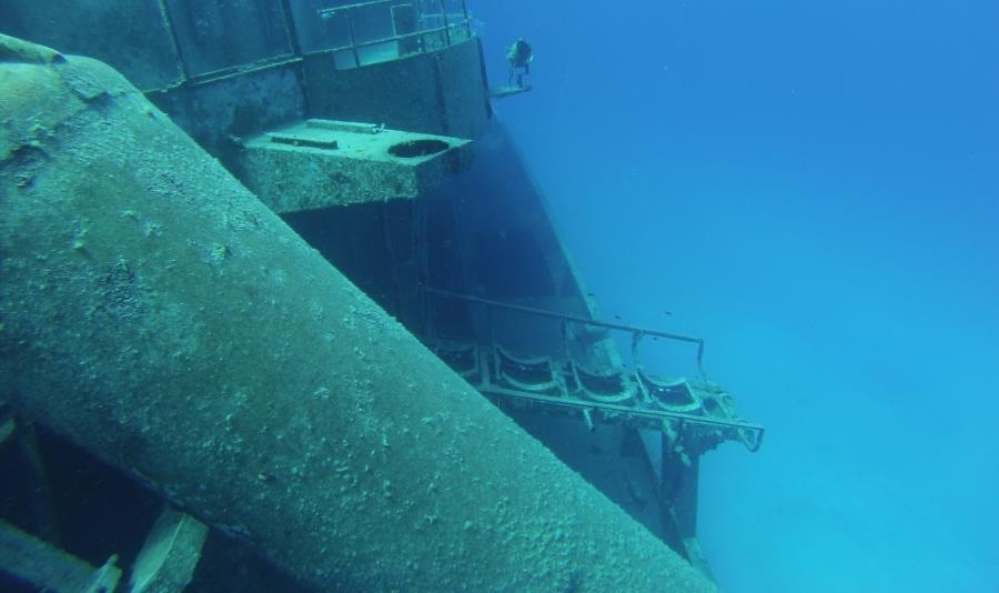 Side view of Kittiwake Wreck