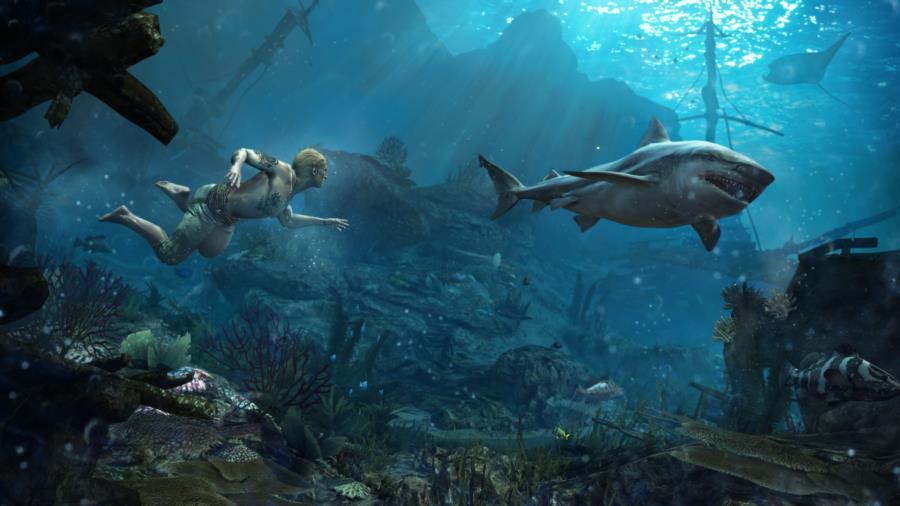 Assassin's Creed 4 Black Flag Underwater Scene