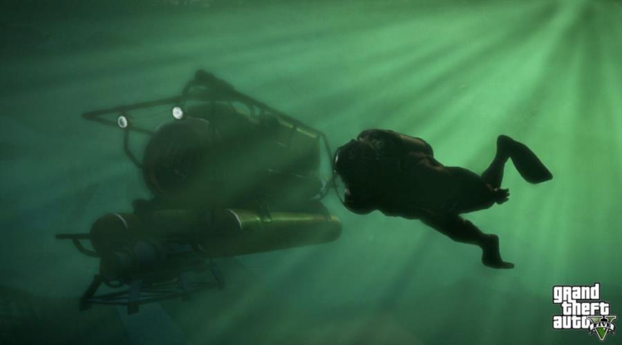 Grand Theft Auto 5 Underwater Scene