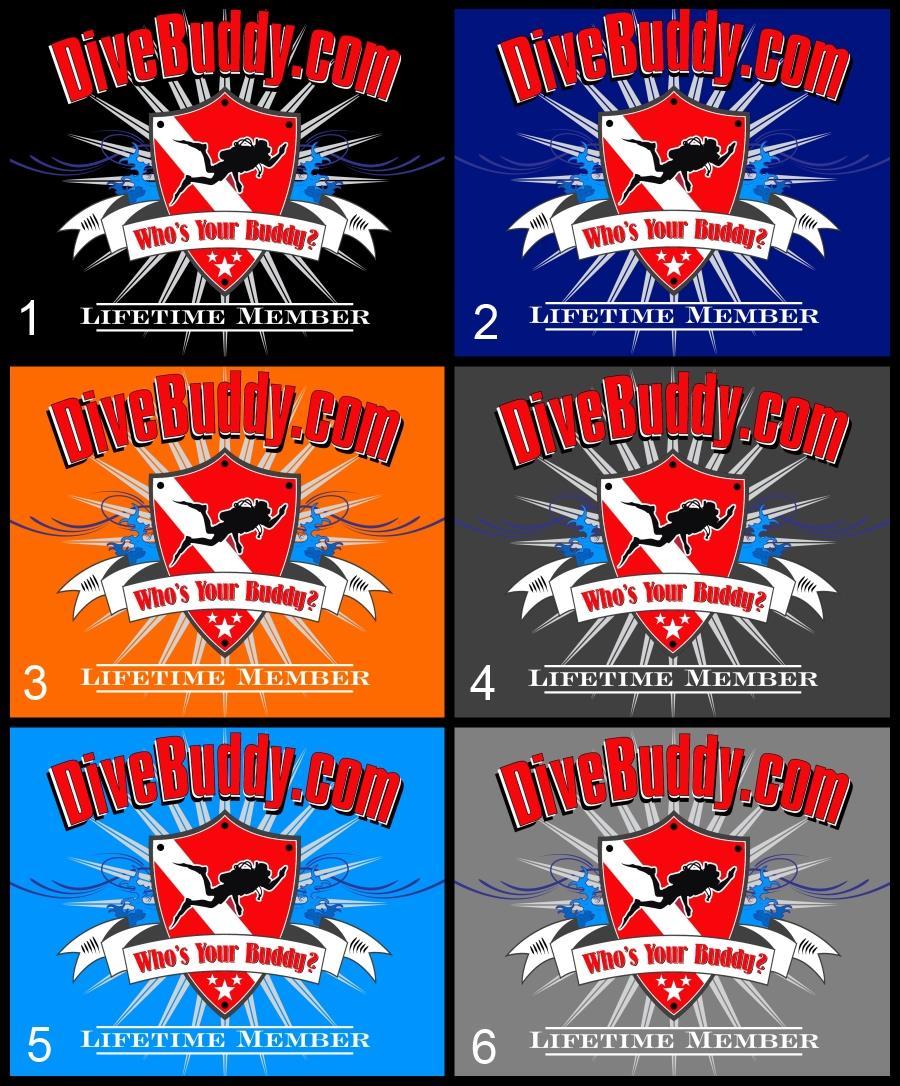 DiveBuddy.com Lifetime Membership T-Shirt Options