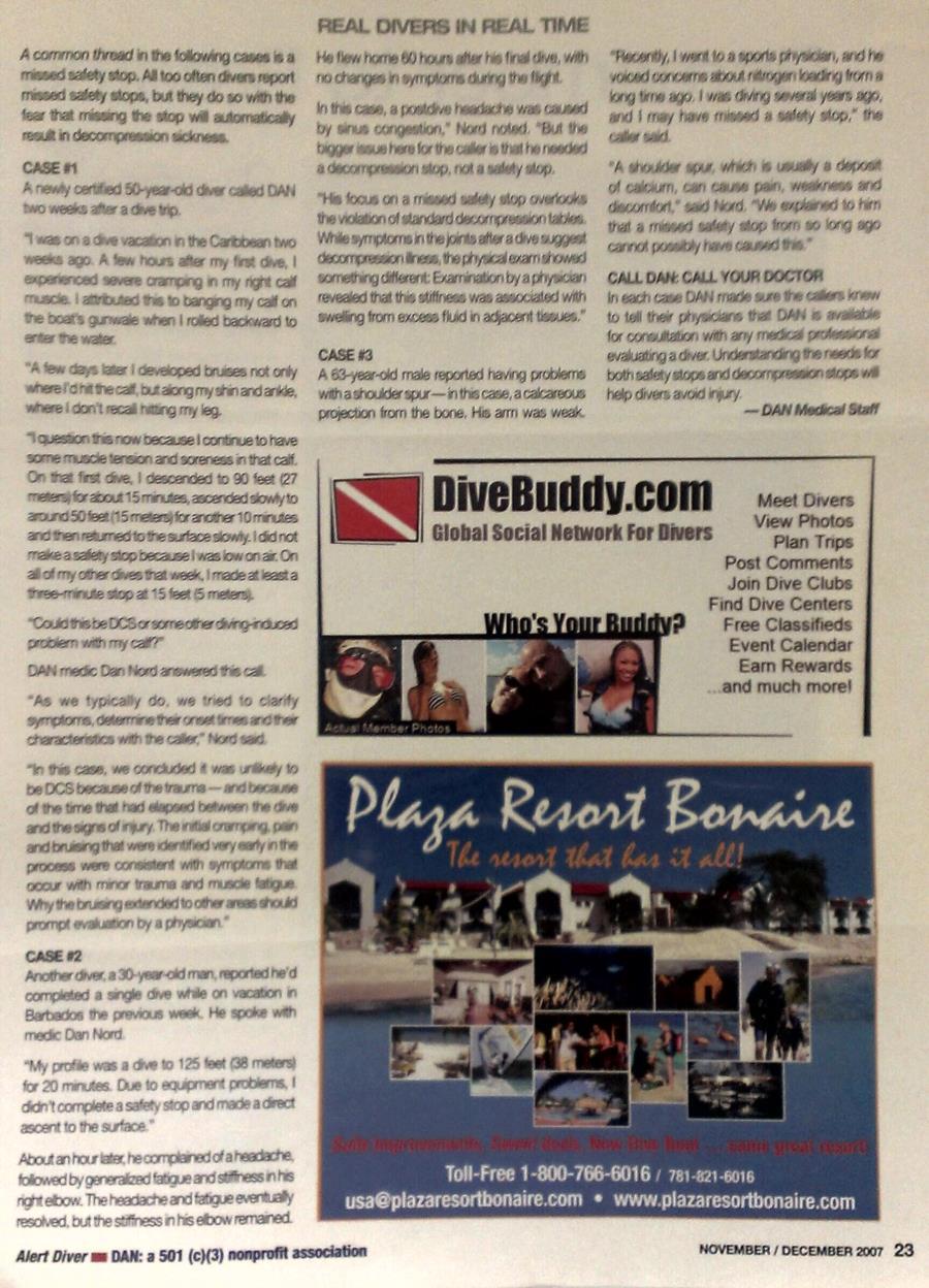 Old School DiveBuddy Ad in Alert Diver Magazine