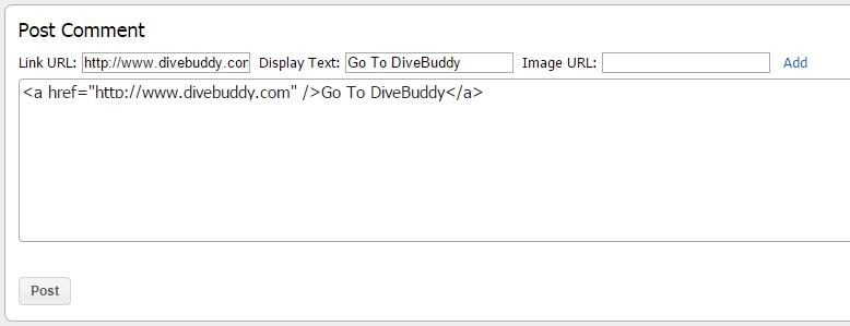 How to Add Links and Images to DiveBuddy