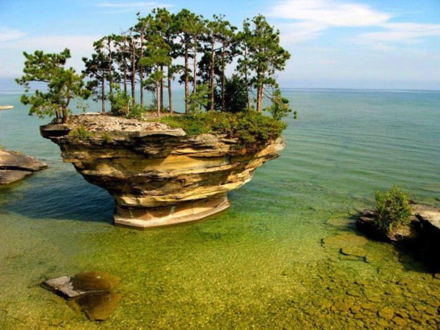 Turnip Rock - Lake Huron - Michigan