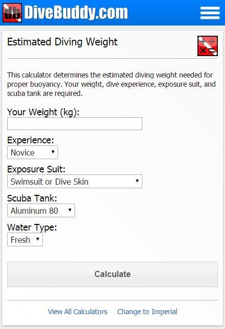 Scuba Calculators added to DiveBuddy Mobile Site