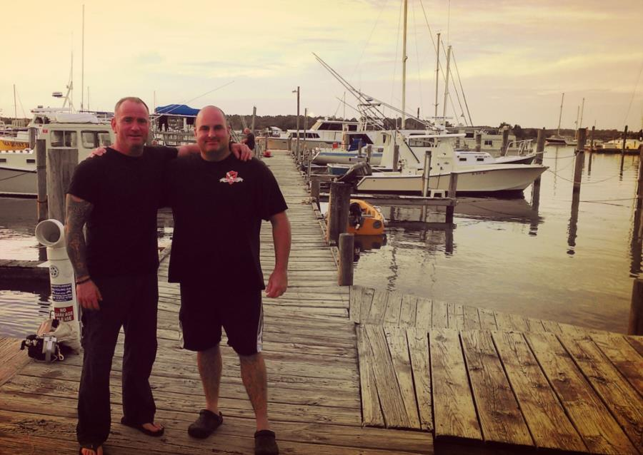 Terry and Greg at Discovery Diving in NC