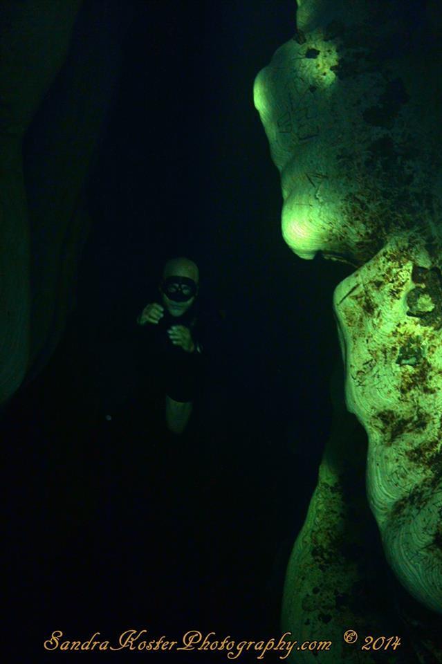 Freediver David Head as the Phantom of the Rock Opera