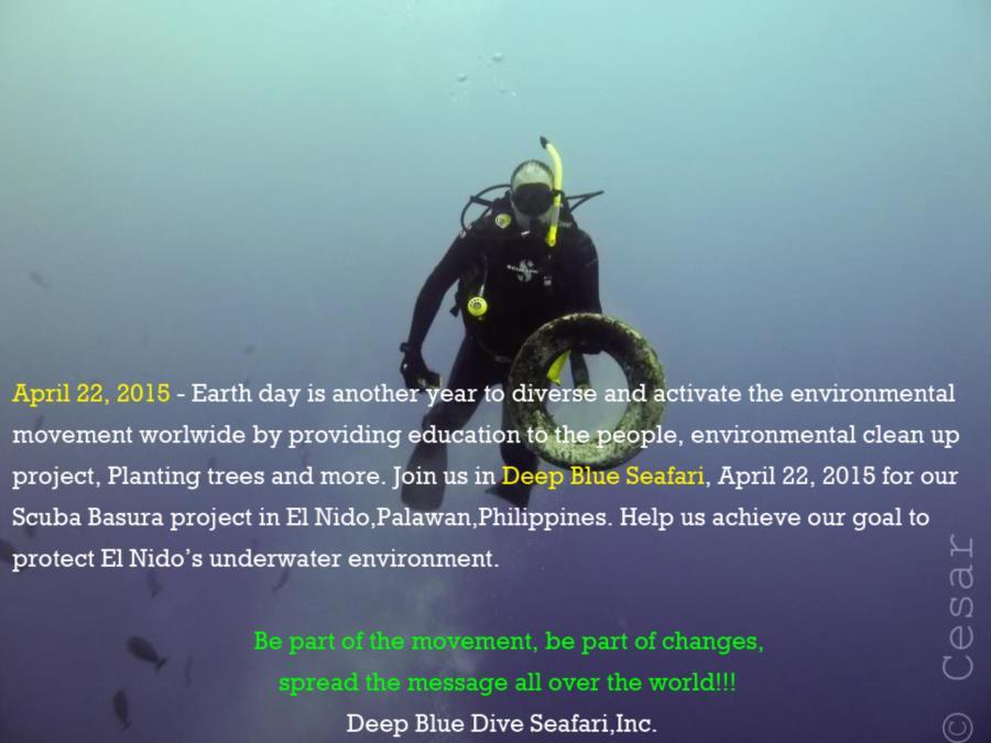 Earth Day - Deep Blue Seafari - April 22, 2015. 10 days to go!!!