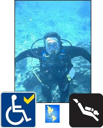 Diver with disabilitys learns to scuba dive