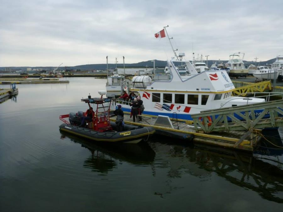 Our tour boat, The Mermaid, going out for Remembrance Day dives