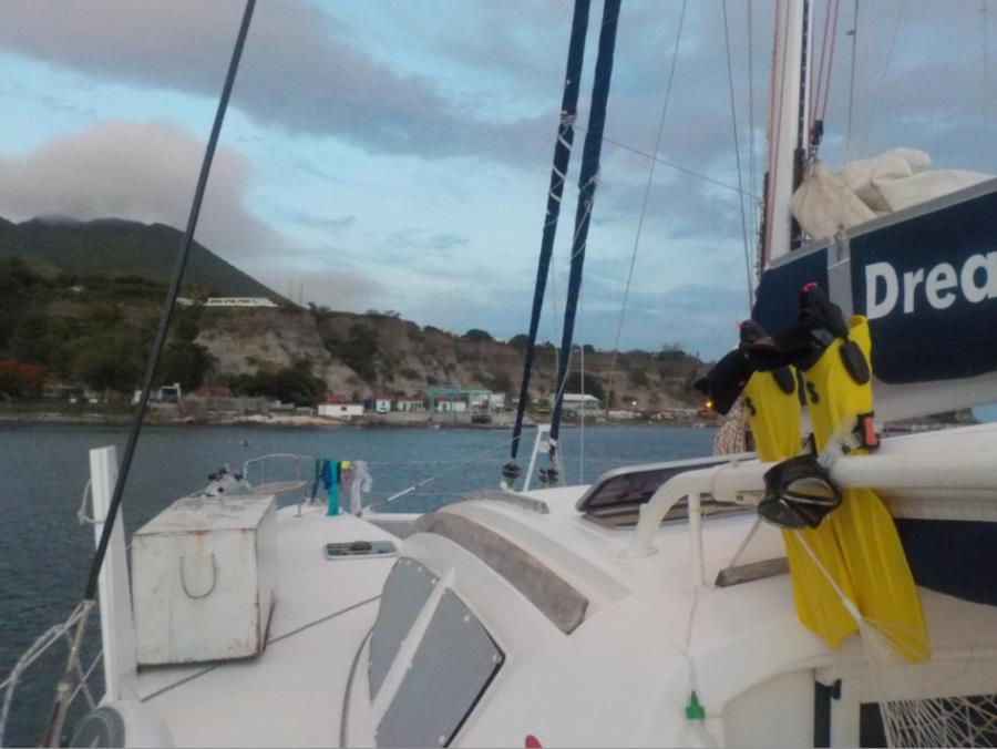 Moored off Statia