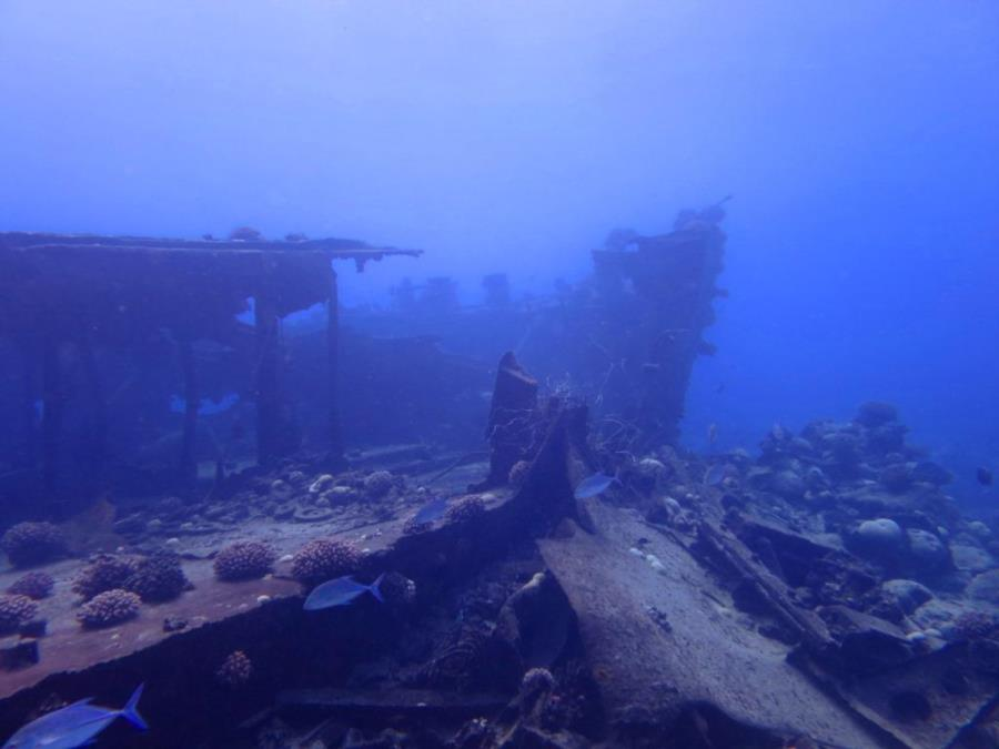 Wreck at Wake Atoll