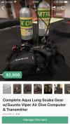 Offer Up Sale - Scuba Gear