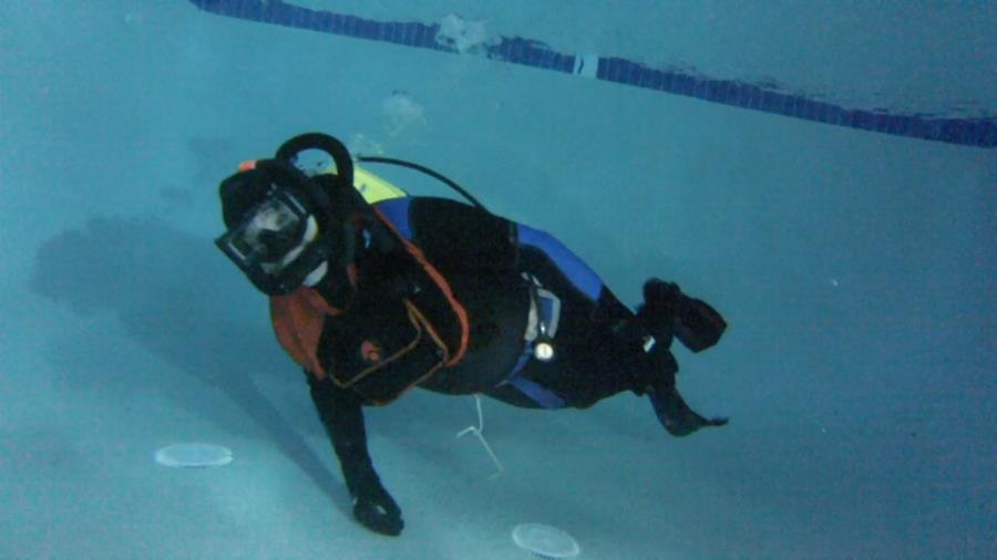 Dive buddy MC with a vintage double hose Aquamaster regulator