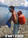 Home made scuba gear