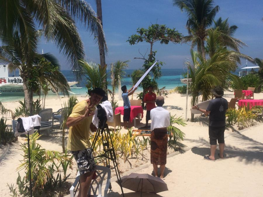 Filming in Malapascua