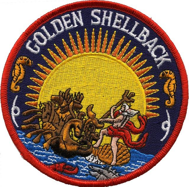 Golden Shellback has crossed the Equator at the International Date Line