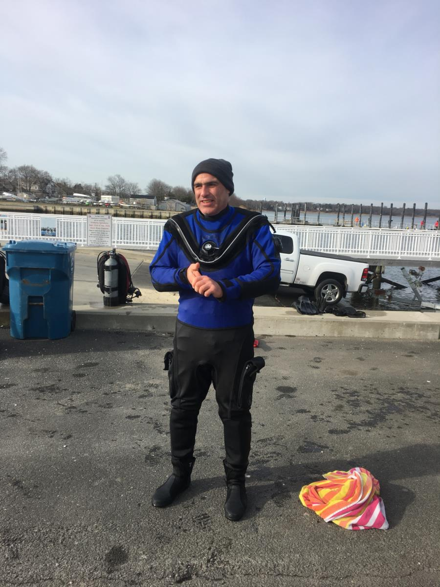 Dry Suit New Years Eve