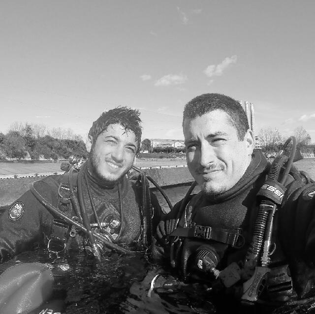 Me and Luciano from dive buddy at the quarry getting ready for the stolt degali