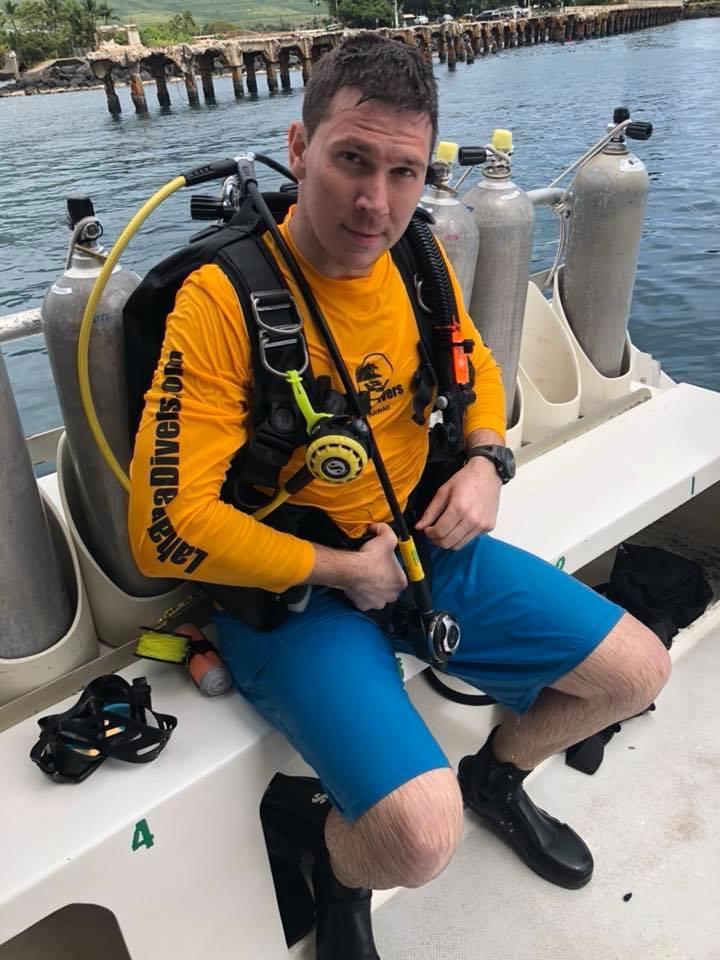 After Mala Ramp dive Maui