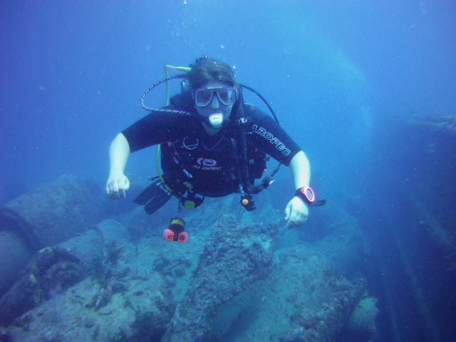 My wife's first dive since our second child