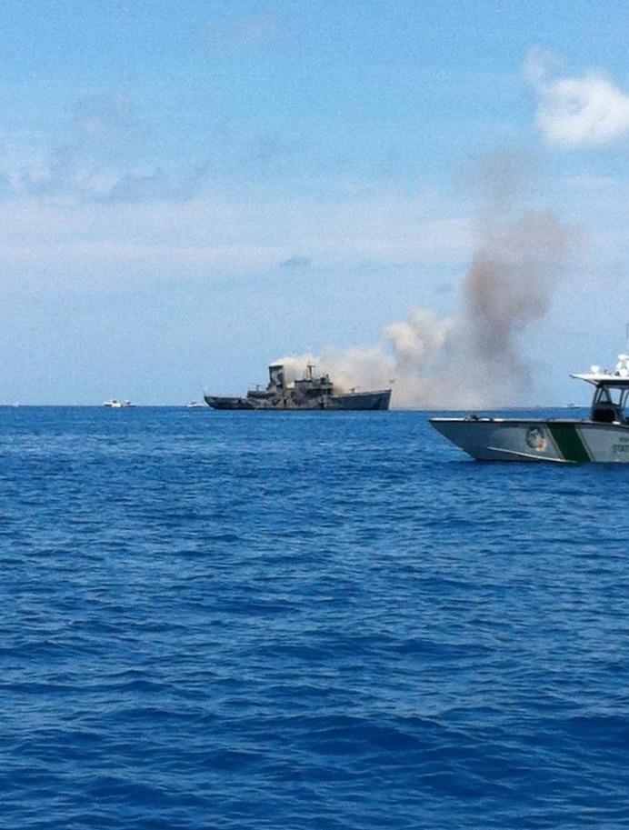USS Mohawk going down