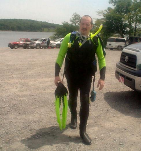 After my check out dive, Mt Storm 2011.
