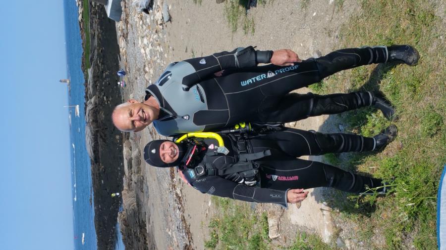 Me and Dive Master Walt - Atlantic Aquasport, NH
