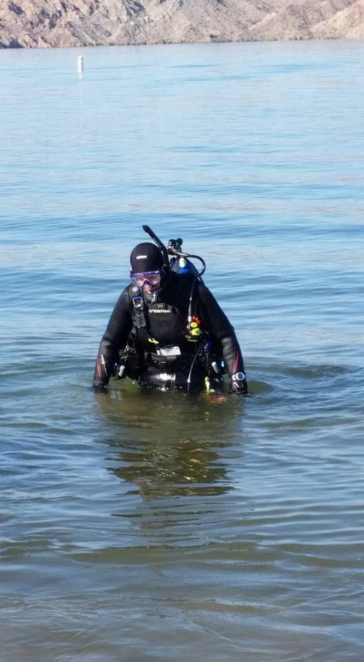 Full gear at Lake Mohave