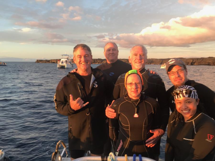 Getting ready for manta Ray night dive in Kona HI