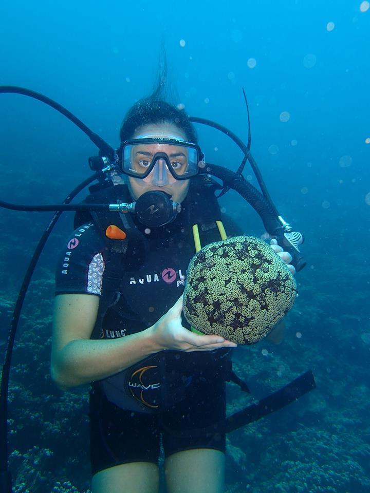 Sea Sponge and me in Bora Bora (French Polynesia)