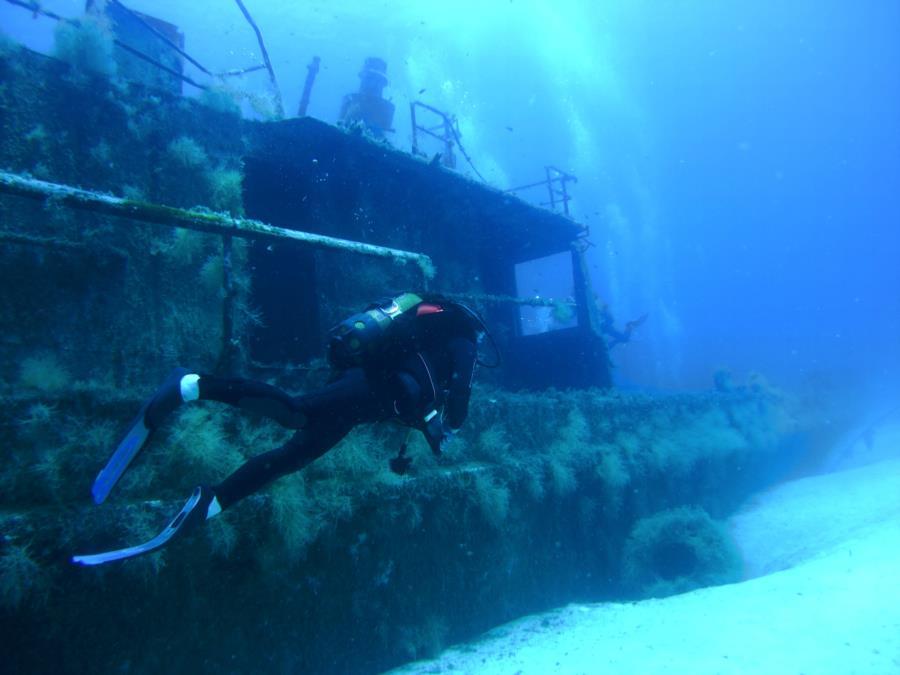 Wreck of mineseeker P31