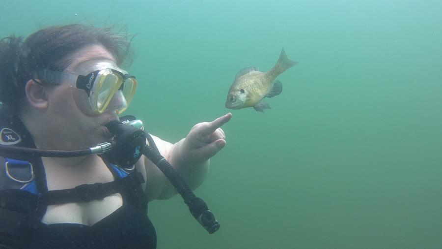 Wife with a bluegill