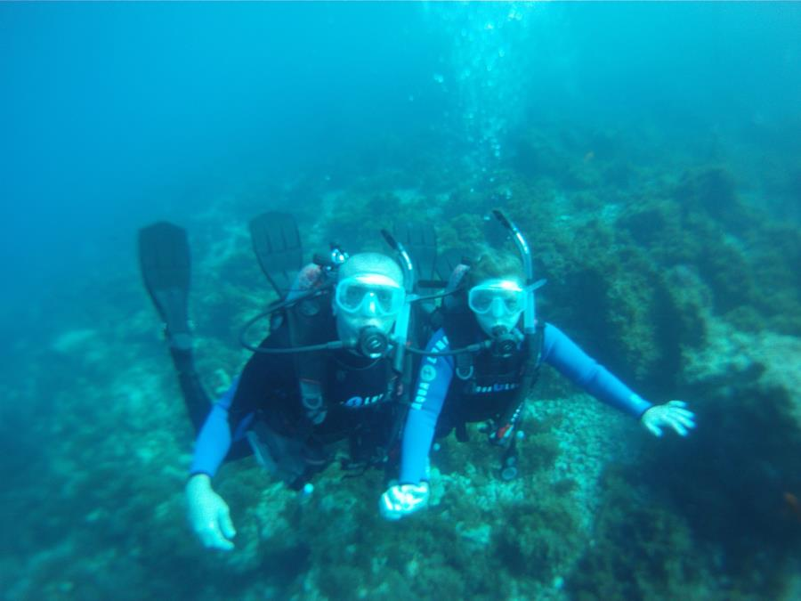 Wife and I on a dive