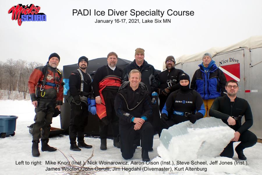 Ice dive team!