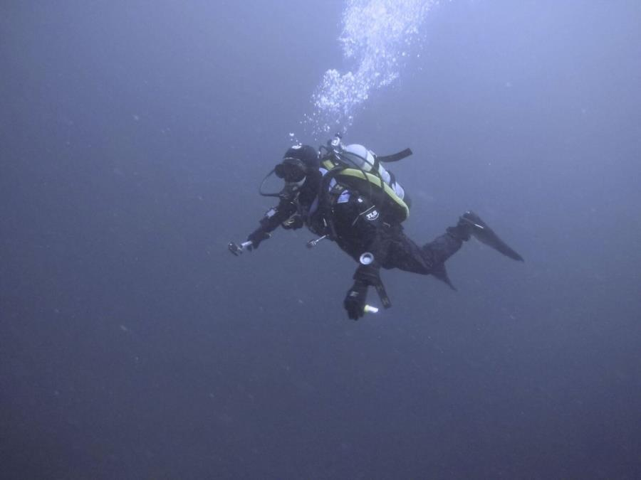 Me Diving Along in Seward, AK