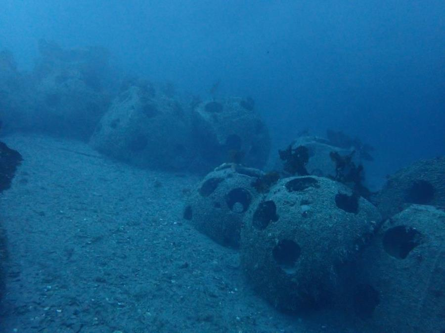 Reef Balls at Smitty's Cove in Whittier, AK (01/20/2018)