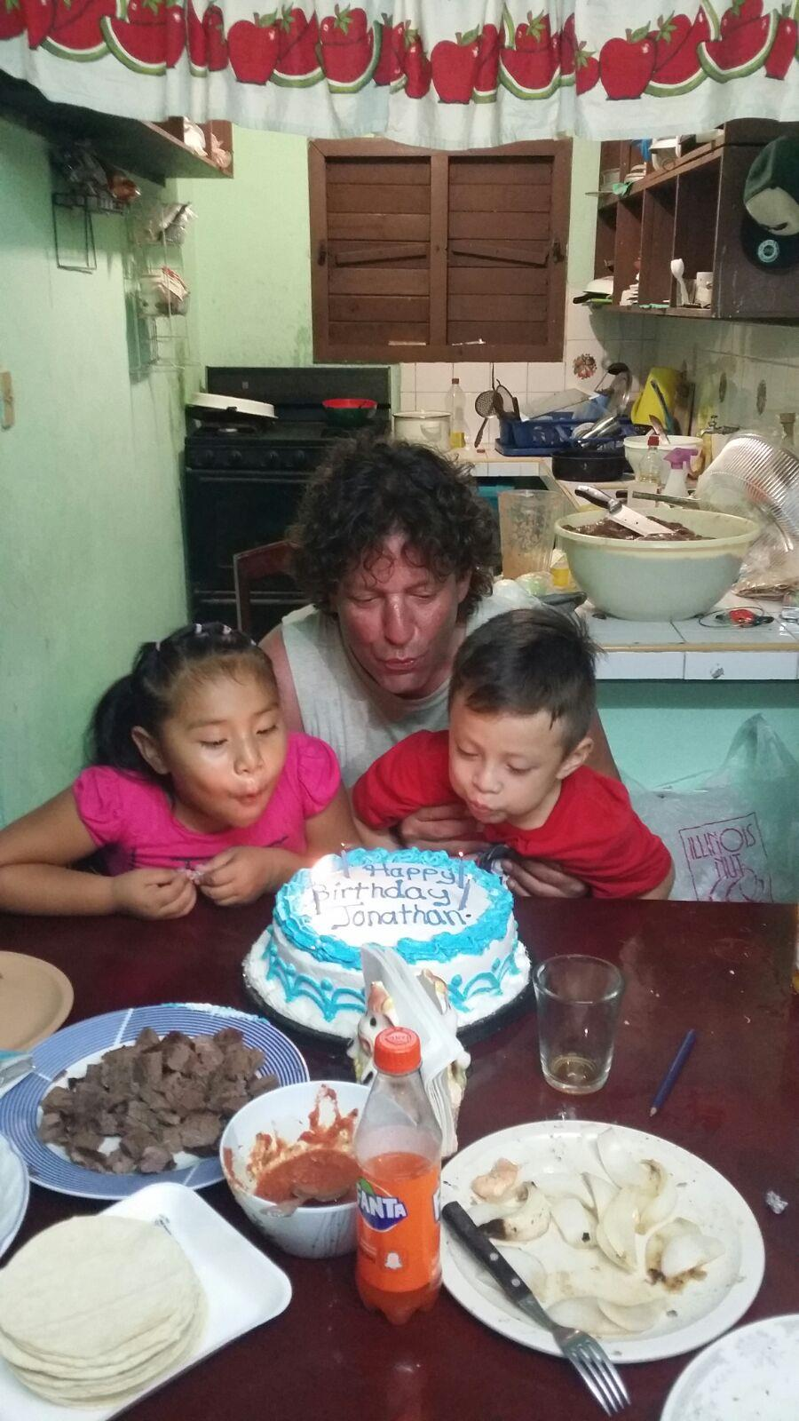 Me and my friends kids who live in Cozumel