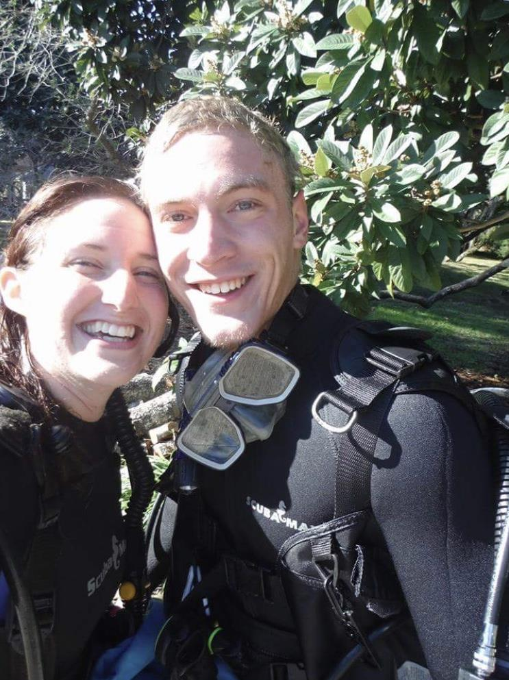 diving with my other half