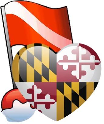 MD Flag and Heart