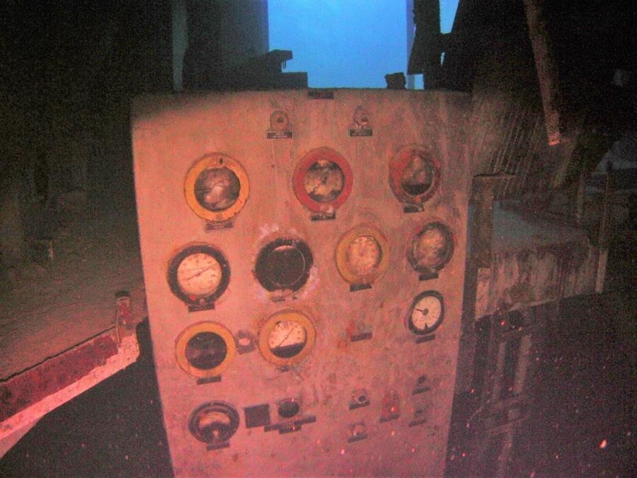 Lucky Lady's engine room