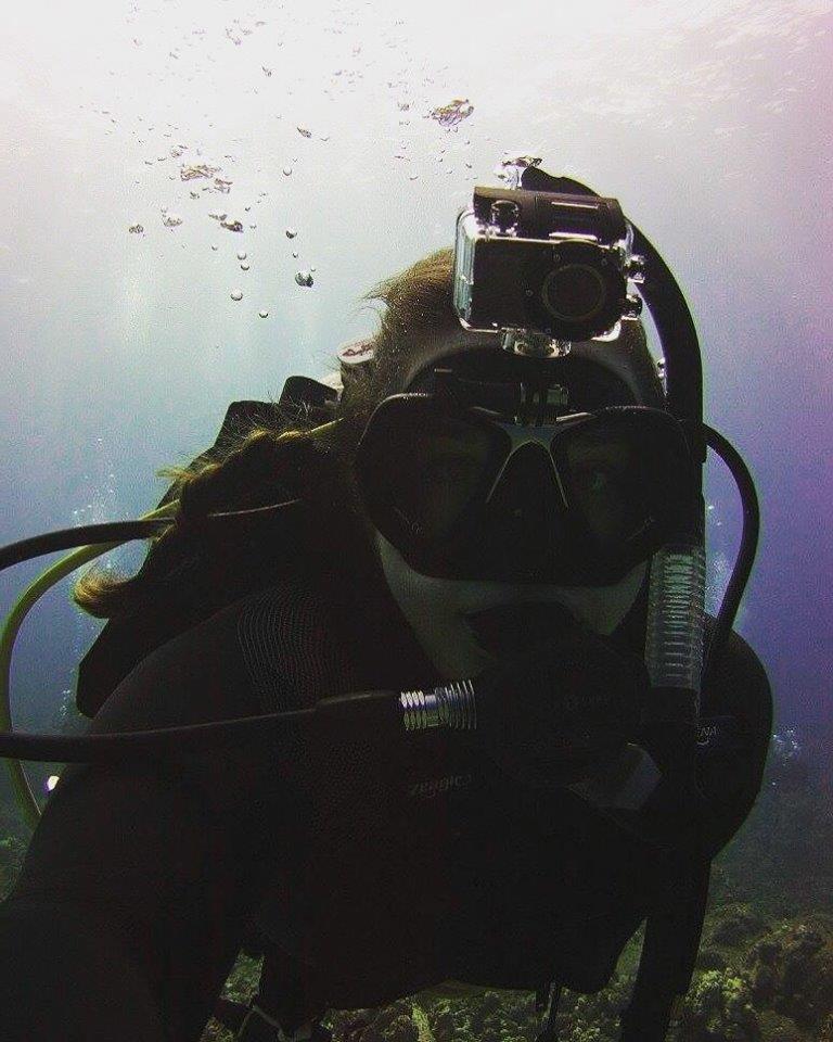 Boat dive off the coast of Kona