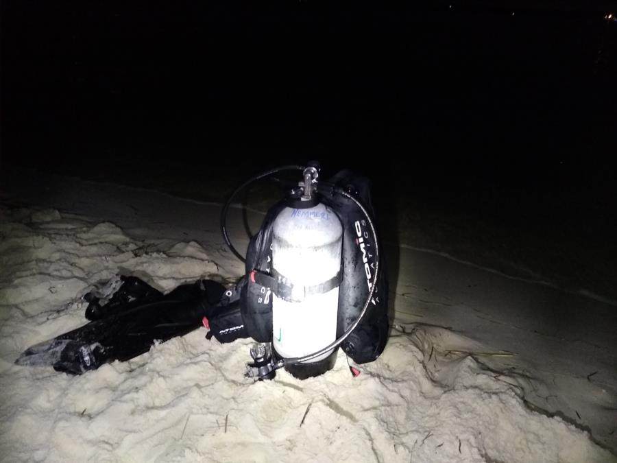 Night dive Fort Pickens 42' Deep 84° temp Sep 2019