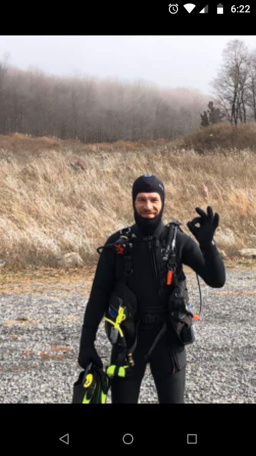 Final checkout dive