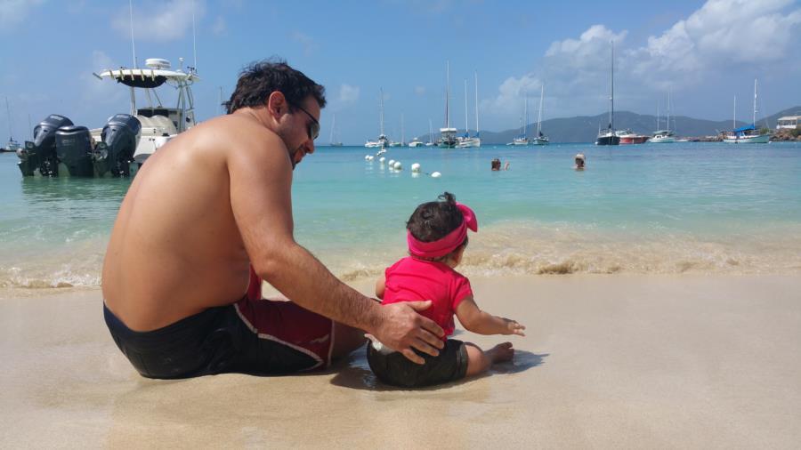Beach with ava