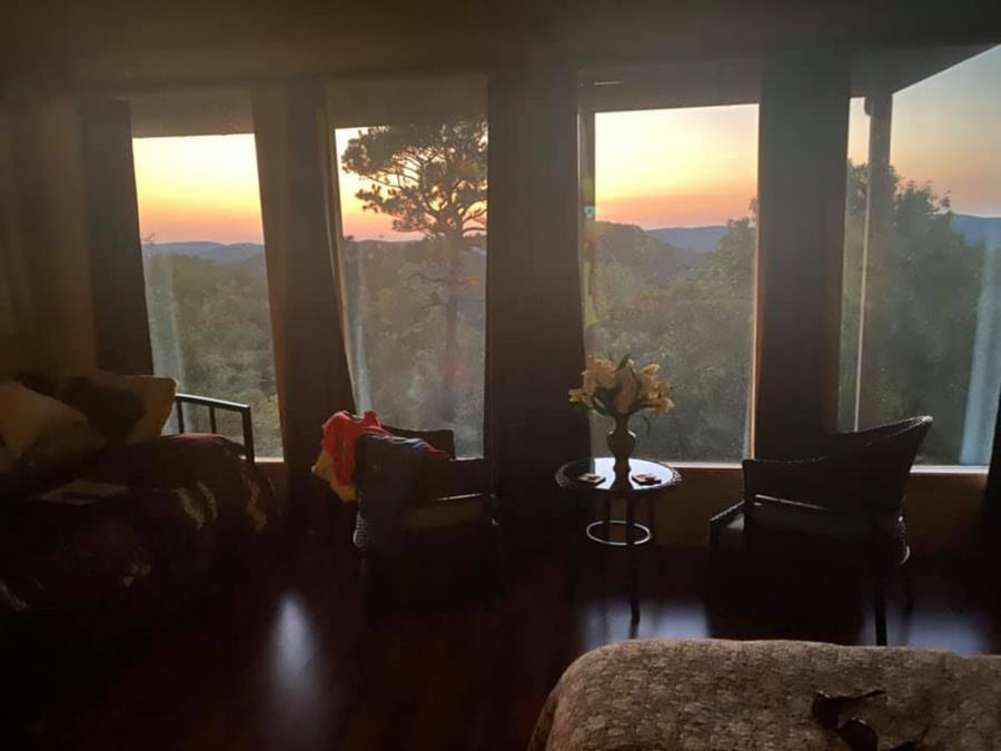 View from room in Eureka Springs, Arkansas