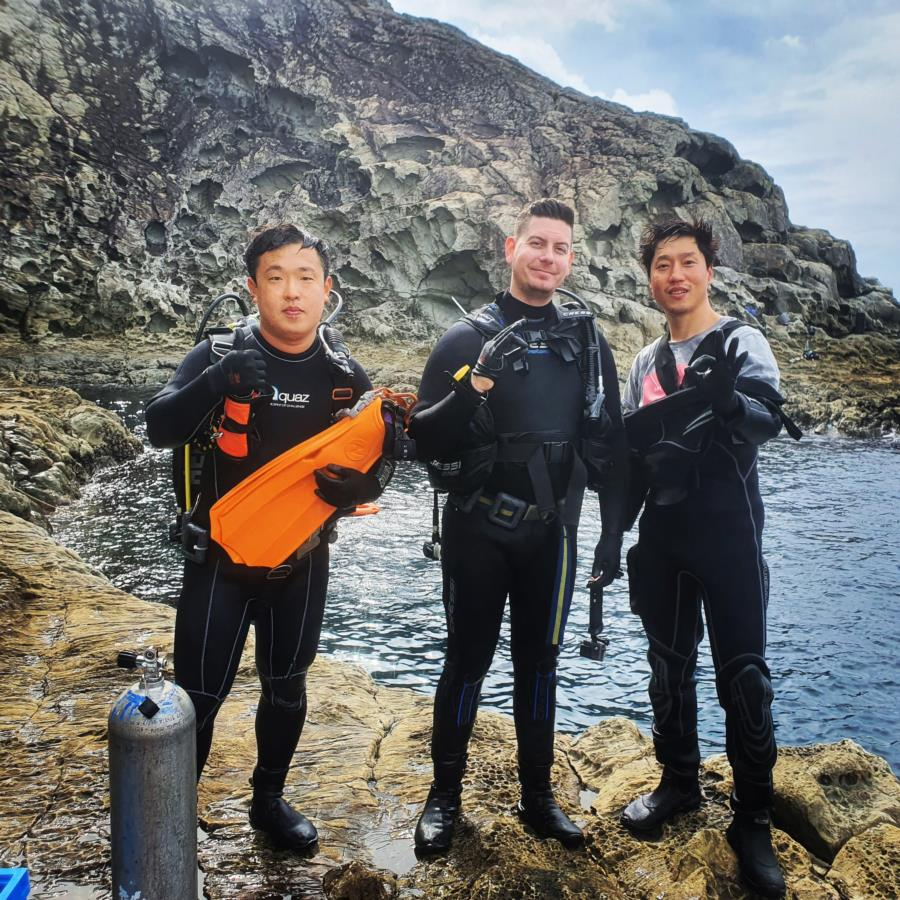 Diving at Jeju Island